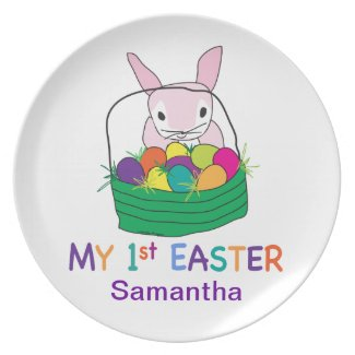 My 1st Easter Party Plate
