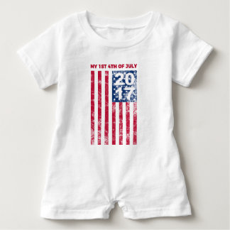 My 1st Fourth Of July 2017 Commemorative Romper