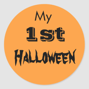 my 1st halloween baby sticker shirt clothing first