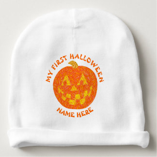 My 1st Halloween Jack O Lantern Trick Or Treat Baby Beanie