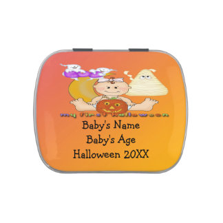 My 1st Halloween Rectangle-Shaped Candy Tin