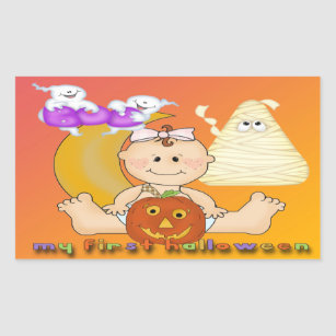 my 1st halloween rectangle sticker