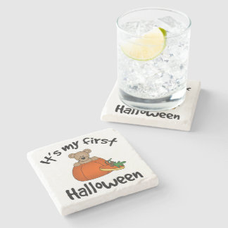 My 1st Halloween Stone Coaster