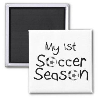 My 1st Soccer Season 2 Inch Square Magnet