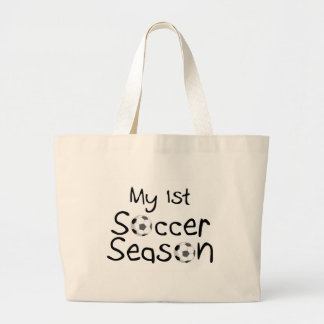 My 1st Soccer Season Large Tote Bag
