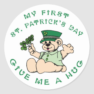 My 1st St Partick's Day Gift Classic Round Sticker