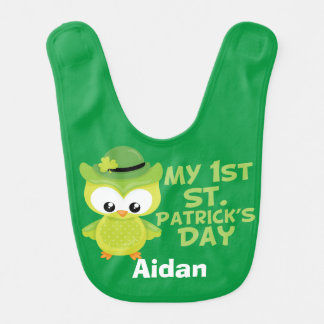 My 1st Patrick's Day Cute Green Bib for St Patrick's Day