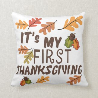 My 1st Thanksgiving Pillow