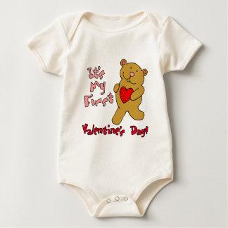 My 1st Valentine's Day Baby Bodysuit