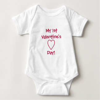 My 1st Valentine's Day!-Baby Infant Creeper
