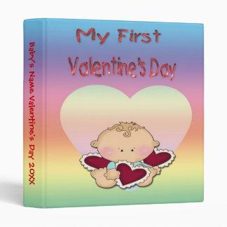 """My 1st Valentine's Day (boy) 1"""" Binder"""