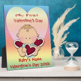 My 1st Valentine's Day (boy)  Plaque With Easel