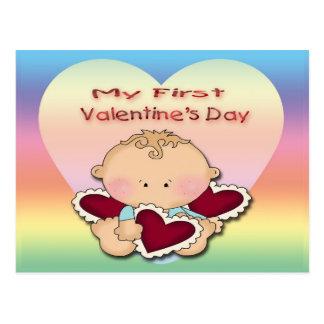 My 1st Valentine's Day (boy) Postcard