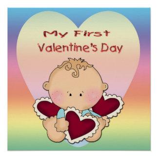 "My 1st Valentine's Day (boy) Poster 20""x20"""