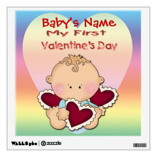 My 1st Valentine's Day (boy) Square Wall Decal