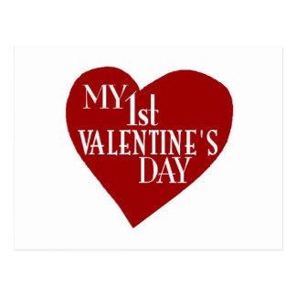 My 1st Valentine's Day Postcard