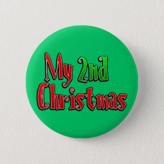 My 2nd Christmas Pinback Button