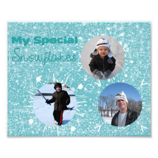 My 3 Special Snowflakes Photo Print