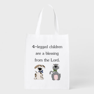 My 4-legged children are a blessing... market tote