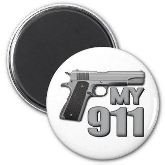 MY 911! 2 INCH ROUND MAGNET