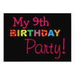 My 9th birthday party announcement