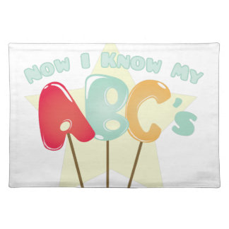 My ABCs Cloth Placemat