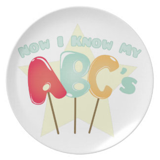 My ABCs Plate
