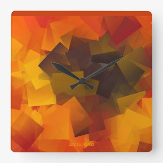 """""""My Abstract Sunflower"""" Wall Clock"""