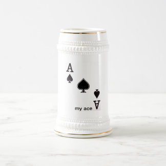 My Ace of Spades Beer Stein 18 Oz Beer Stein