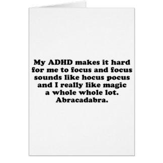 My ADHD Focus Hocus Pocus Card