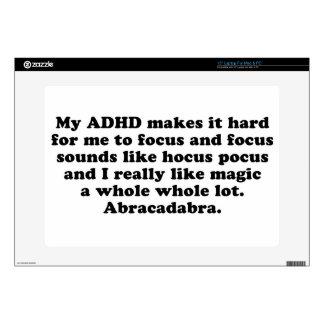 """My ADHD Focus Hocus Pocus Decals For 15"""" Laptops"""