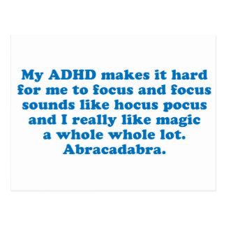 My ADHD Hocus Pocus Postcard
