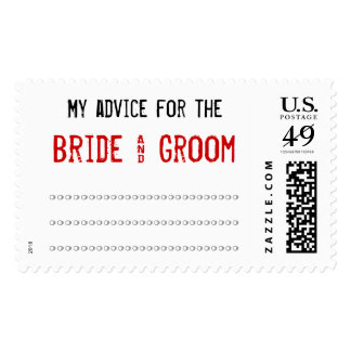 My advice for the Bride & Groom Postage Stamp