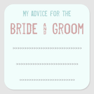 My advice for the Bride & Groom Sticker