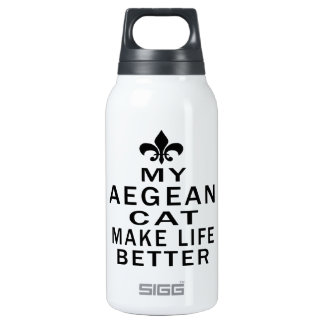 My Aegean Cat Make Life Better 10 Oz Insulated SIGG Thermos Water Bottle