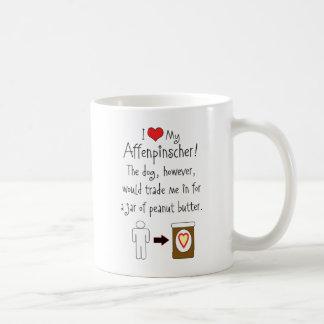 My Affenpinscher Loves Peanut Butter Coffee Mug