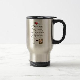My Affenpinscher Loves Peanut Butter 15 Oz Stainless Steel Travel Mug