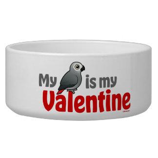 My African Grey Is My Valentine Bowl