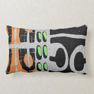 My African Studio Print Lumbar Pillow
