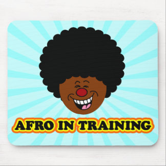 My afro is learning how to be kinky mouse pad