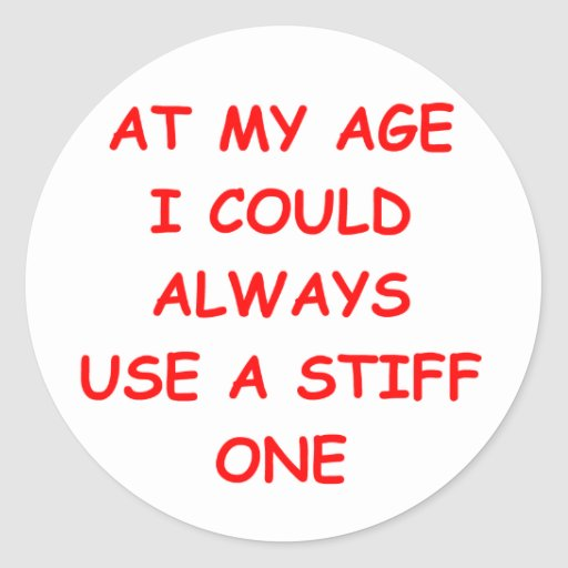 my age round sticker