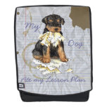 My Airedale Ate My Lesson Plan Backpack