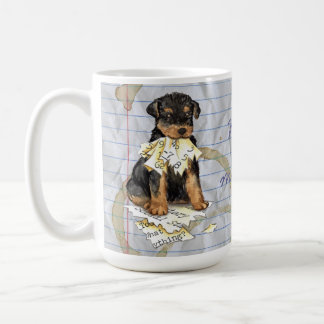 My Airedale Ate My Lesson Plan Coffee Mug