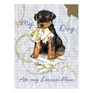 My Airedale Ate My Lesson Plan Post Cards