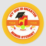 My Airedale Is Smarter Round Sticker