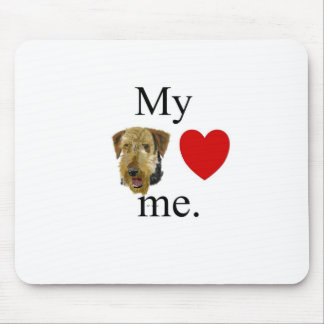 My airedale lrves me mousepads