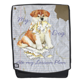 My Akita Ate My Lesson Plan Backpack