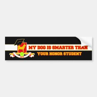 My Akita Is Smarter Car Bumper Sticker