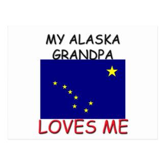 My Alaska Grandpa Loves Me Postcard