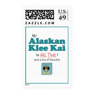 My Alaskan Klee Kai is All That! Stamp